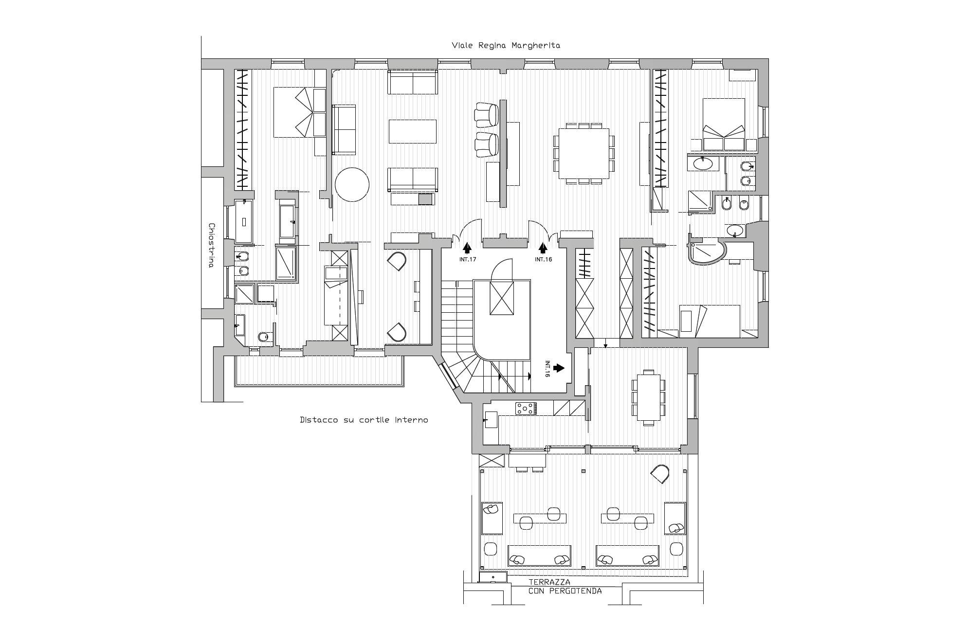 Planimetria Attico Bohémien Roma